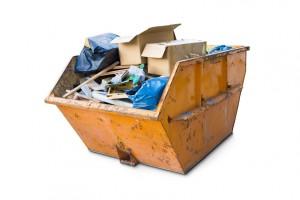 Müllcontainer für Sperrmüll Abfall
